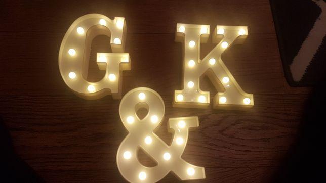 Literki podświetlane K&G