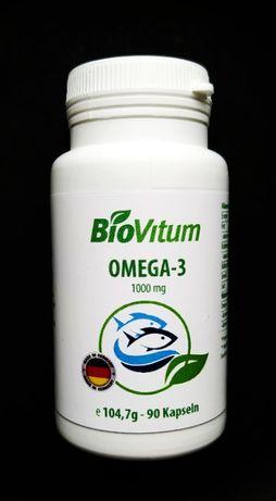 Омега 3 BioVitum. Германия. 90 капсул по 1000 mg. Рыбий жир. Витамины