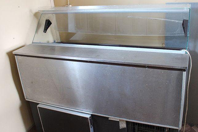 Duża witryna do lodów na 7 kuwet