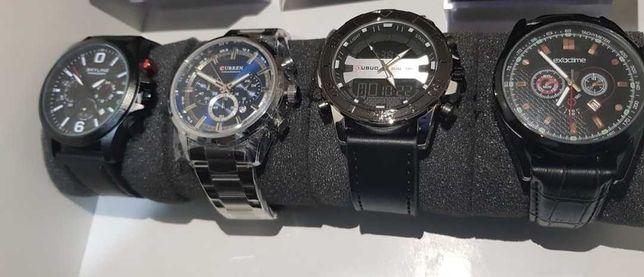 Relógios de Homem em Aço / Cabedal Genuíno
