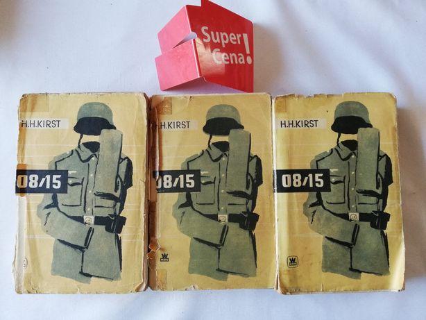 """książka """"08/15"""" 3 tomy Hans Helmut Kirst BIAŁY KRUK"""