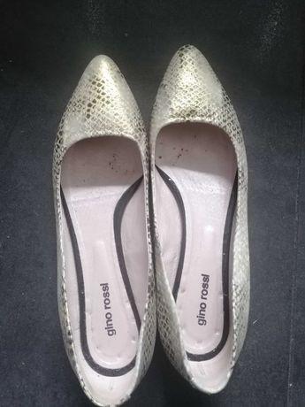 Półbuty buty Gino Rossi wąż złote