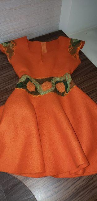 Платье валеная шерсть