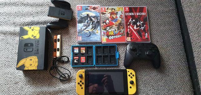 Nintendo Switch V1, 200 GB, gry, akcesoria, zamiana na zestaw audio