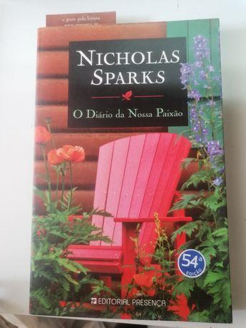 Livro Nicholas Sparks - diário da nossa paixão