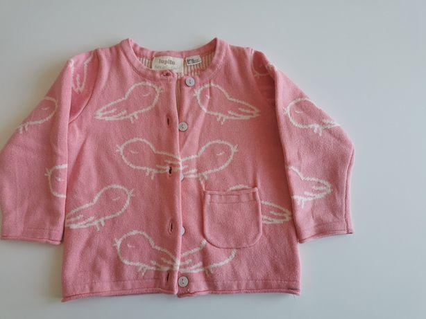 Sweterek różowy lupilu r. 74/80