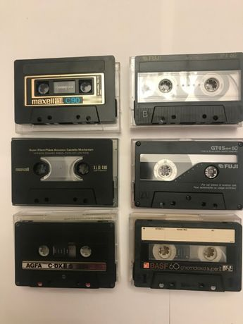 Аудиокассеты Maxell, FUJI, AGFA, BASF 60 min chrome одним лотом