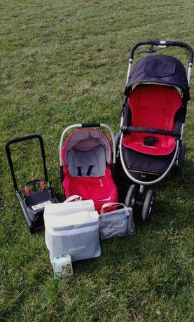 Wózek dziecięcy Casual play S4, spacerówka, fotelik samochodowy, baza,