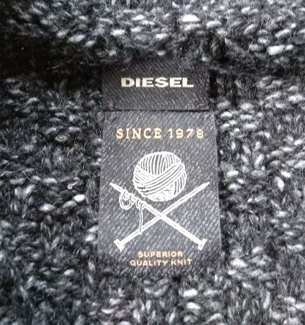 Оригинал DIESEL кофта вязаная кардиган свитер S