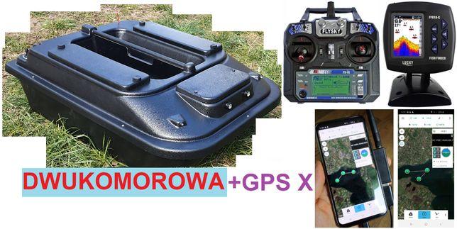 dwukomorowa ŁÓDKA ZANĘTOWA P2 70cm Echosonda GPS X / Producent Poznań