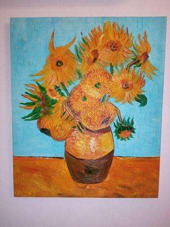 Obraz olejmy słoneczniki, kontakt  olx