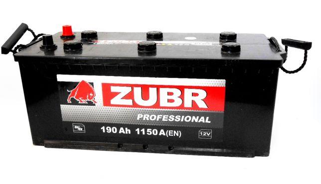Аккумулятор грузовой ZUBR Professional 6-СТ 190 Ач 1150A Белорусь