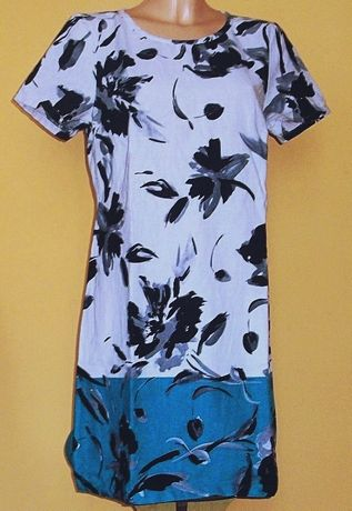 Sukienka lniana w kwiaty marki EPILOGUE r.40