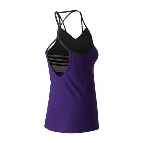 New Balance nowy sportowy top bluzka fioletowa guma stanik ramiączka