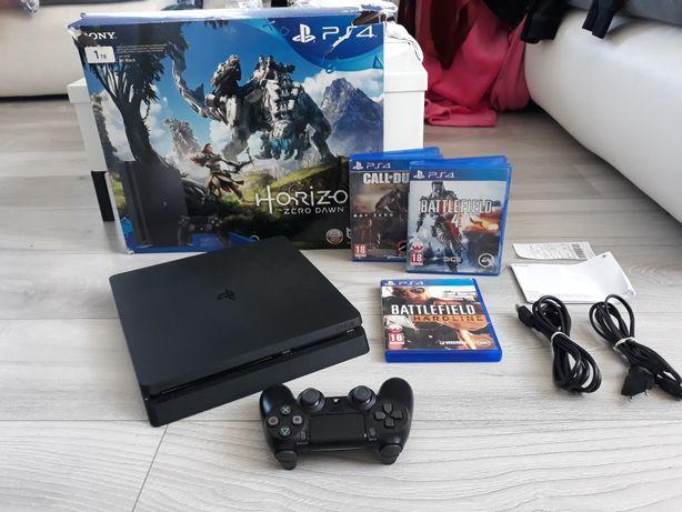 Ps4 Slim 1TB + Gry + Gwarancja Perfekt Stan Playstation4