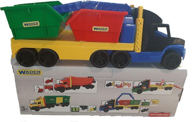 samochód DUZY 80cm naczepa kontener śmieciarka