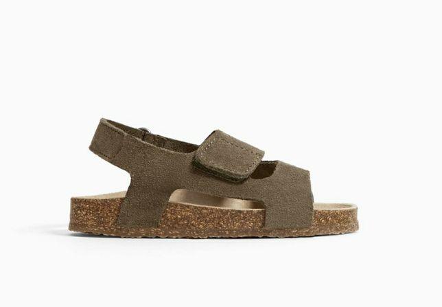 Buty sandałki zara 22 skóra