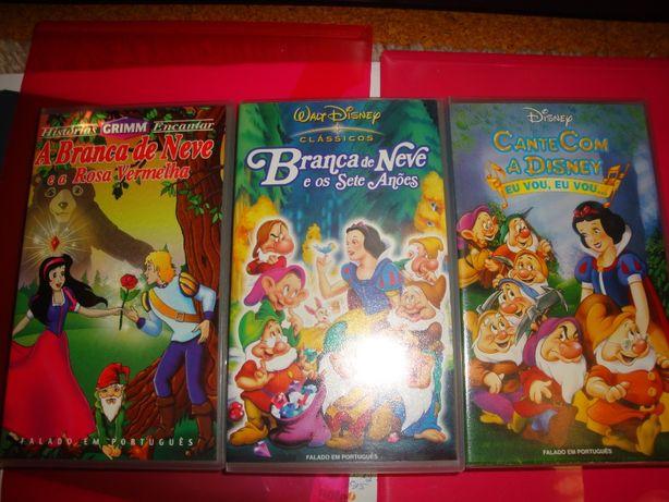 Cassetes vhs várias de desenhos animados