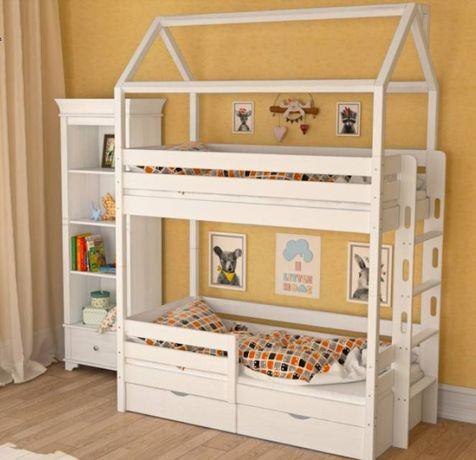АКЦІЯ ! кровать домик из Смереки Карпатской для ваших деток