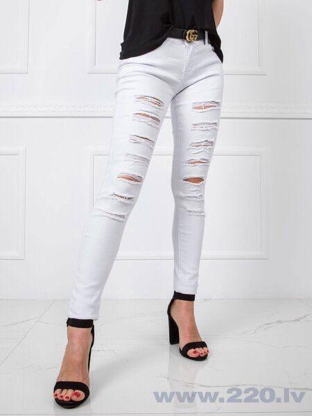 Белые рваные джинсы Новоград-Волынский - изображение 1