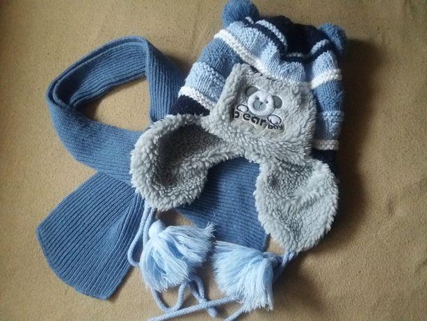 Зимняя шапка и шарф 3 - 5 лет 104 - 116 см Польша
