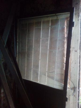 Drzwi stalowe sklepowe PRL
