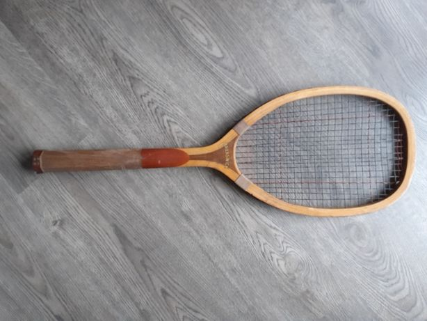 Raquete ténis em madeira Brunswick de 1920