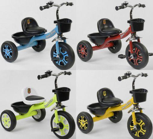 Детский трехколесник BEST TRIKE (колеса пена, багажник, корзинка)
