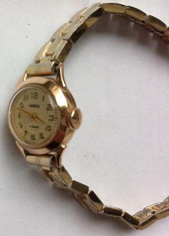 Чайка часы женские СССР золотые