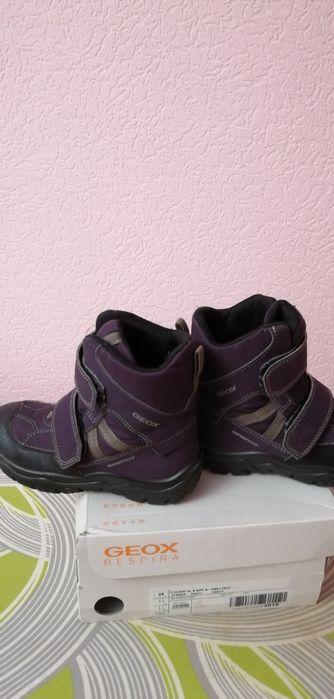 Ботинки зимние на девочку джеокс. Бобровка - изображение 1