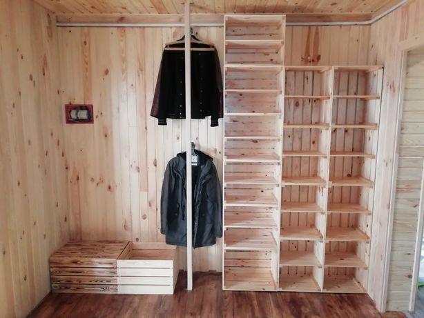 Ящик деревянный обожженный крашеный