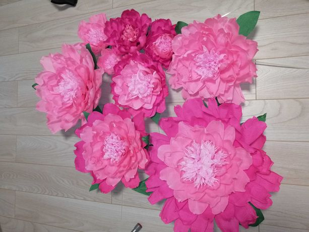 Продам квіти для фотозони з гафрованого паперу