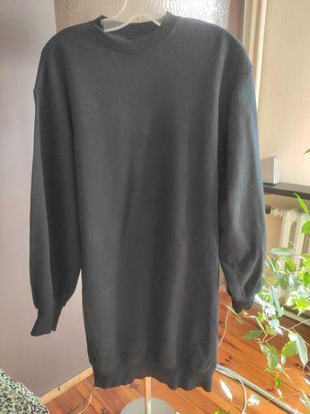 Bluza czarna damska ze ściągaczem na dole