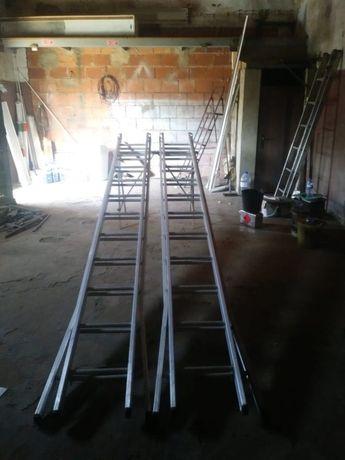 Escadas em Alumínio que se convertem em escadotes (como novos)