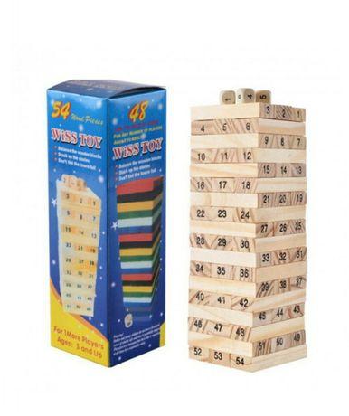 Настольная игра Дженга 54 Башня цифры для детей и взрослых вежа гра