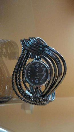 zegarek damski blogerski hit piękna szeroka bransoleta nowy
