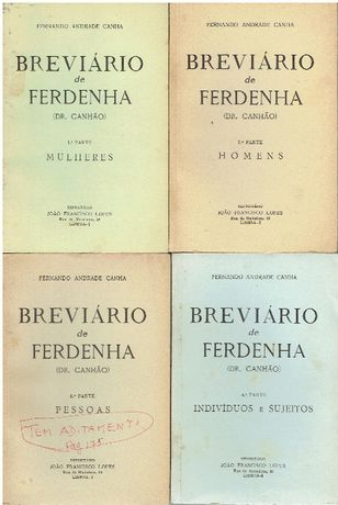 7648 - Cruzadismo - Breviário de Ferdenha (Dr. Canhão)