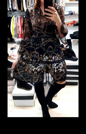 Sukienka print zwierzęcy Panterka