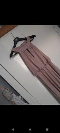 Długa brokatowa sukienka 42
