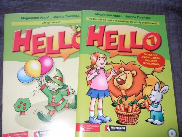"""Zeszyt ćwiczeń do j.angielskiego """"Hello 1"""" z CD"""