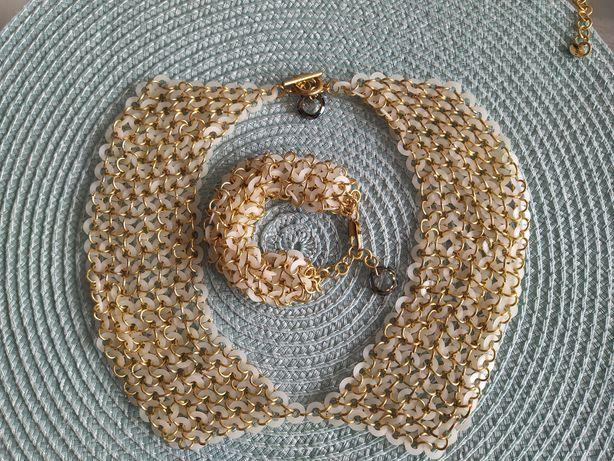 Komplet biżuterii - naszyjnik bransoletka