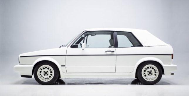 Capota Branca VW Golf Mk1 Cabrio em Vinil original ( Artigo Novo)