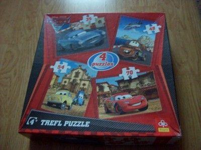 Puzzle 4 zestawy Auta Trefl Puzzle