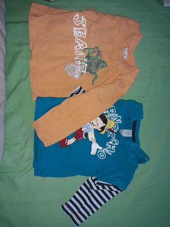 3 koszulki 2 bluzki 80 86