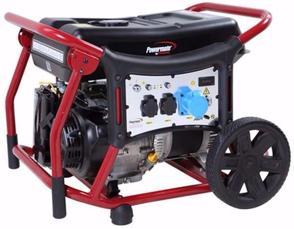 Gerador 6 Kva PRAMAC POWERMATE c/ rodas, arranque eléctrico