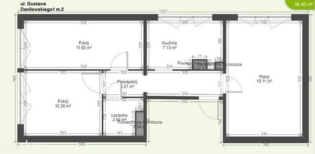 bezpośrednio mieszkanie 56,4m2 Warszawa, Bielany