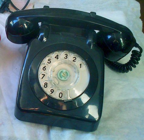 Telefone Preto Antigo Vintage