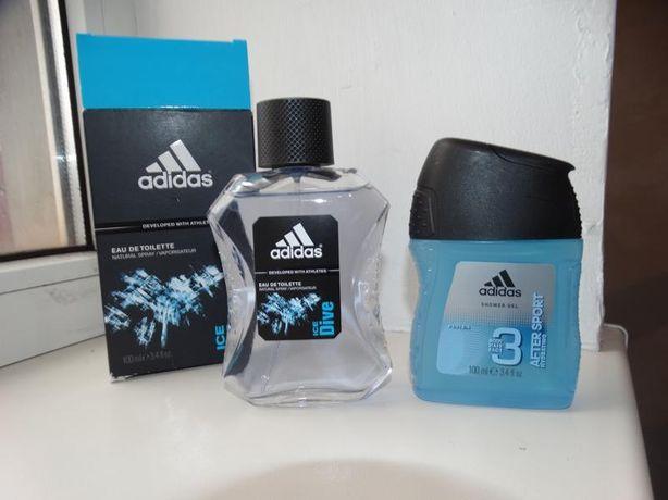 Подарочный набор гель для душа и туалетная вода adidas оригинал