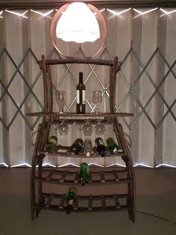 Garrafeira +Candeeiro de pipos vintage