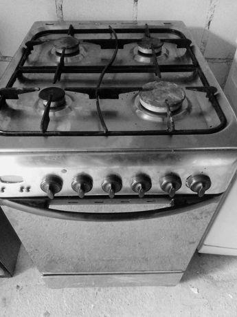 Kuchenka gazowo-elektryczna srebrna